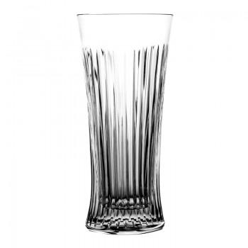 Szklanki pokale long drink do piwa kryształ 6 sztuk
