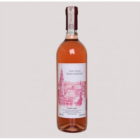 Winnica Trojan - wino różowe 2017