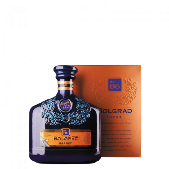 BOLGRAD 5-YO CERAMIC BLUE BRANDY 0,5L