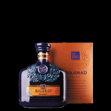 BOLGRAD 5-YO CERAMIC BLUE BRANDY 0,5L