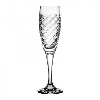Kieliszki do szampana kryształowe 6 sztuk caro