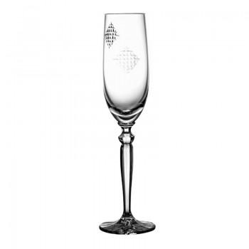 Kieliszek do szampana kryształowy Łatki