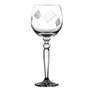 Kieliszek do wina kryształowy łatki