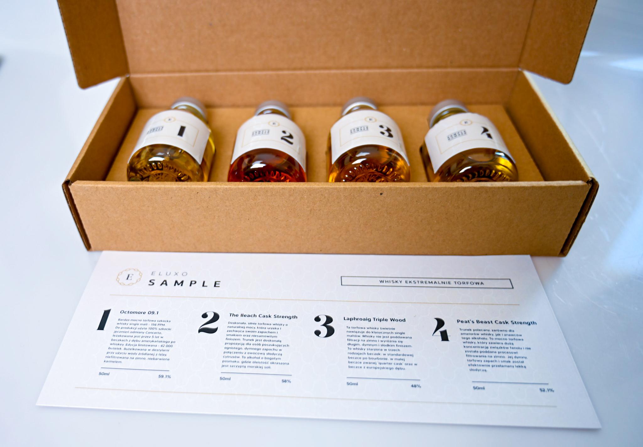 sample eluxo whisky ekstremalnie torfowa